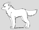 free dog and wolf lineart by Bihve