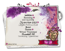 Ever After High Font List by ShaiBrooklyn
