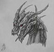 Dragon Head Sketch by TriinuArjus