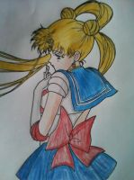 Sailor Moon coloring page by Rini2012