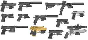 Handgun Collection 2012 by GrimReaper64