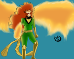 Jean Grey (Phoenix) by Tsukigami-Moon