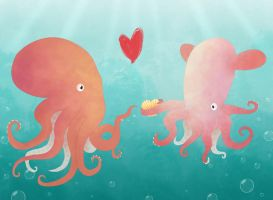 Octopi in Love: Valentines day by SyraCourage