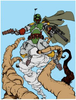 Boba Fett Escapes The Sarlaac By Mikebowden by Kenkira