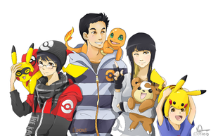 Family of Pokemon Trainers 2011 by TheK40