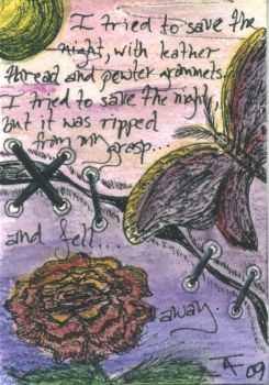 tried to save the night - ACEO - SOLD by Orchid-Black