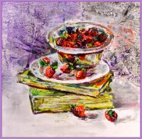 Still life with strawberries by LORETANA