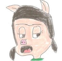 Stern faced Petunia Pig by dth1971
