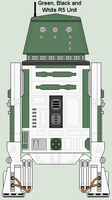 Green, Black and White R5 Unit by MarcusStarkiller