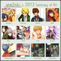 2013 Summary of Art by gem2niki