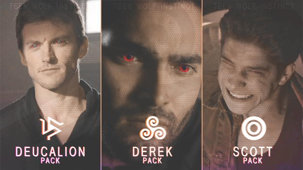 Teen Wolf - Pack of Derek, Scott and Deucalion by TeenWolfInstinct