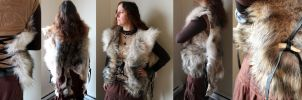 Wolf fur vest cloak by lupagreenwolf