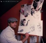 .: Me with some of my works :. by Martin--Art