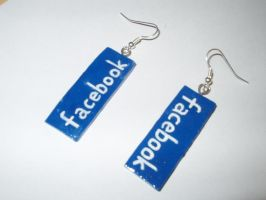 Facebook Earrings by KittyAzura