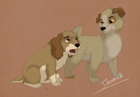 Sons of lady and tramp by Skottan