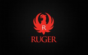 Ruger Red Logo Diamond Plate Background by dhrandy