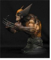 Wolverine Bust brown costume by chrisgabrish