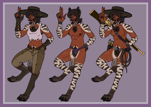 [G/P] Striped Cowgirl by MamaBunyip