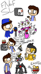 FNaF:SL - First Doodles by Poppyseed799