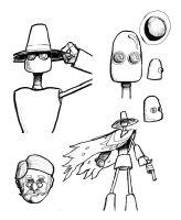 Robot Sketches by THaTrick