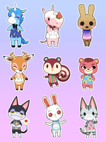 Animal Crossing Stickers by uixela