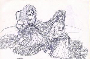 Gothel and Rapunzel by sadieB798