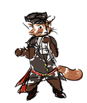 Pirate Captain Red Panda by CharlieOleChap