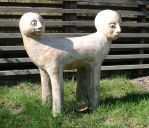 two-headed statue by Kopfinger