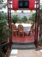 Table in the trees by Laura-in-china