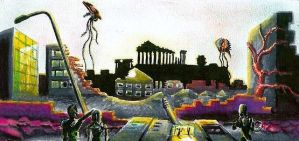 Alien Invasion in Athens by P-OLAK
