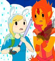 Fionna and Flame Prince by Tirameisu