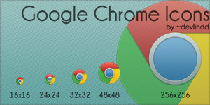 Google Chrome Icons by devlindd
