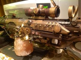 Steampunk rifle detail left by MauruCat