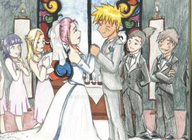 Narusaku wedding by E-vay