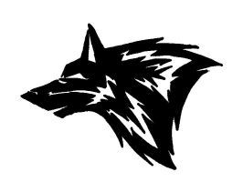 Wolf head tattoo design by UKthewhitewolf