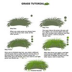 SIMPLE GRASS TUTORIAL! FOR PAINT TOOL SAI USERS! by Marley-Butt