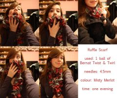 Ruffle Scarf by Hesbell
