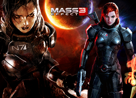 Mass Effect 3 Female Shepard Wallpaper by suicidebyinsecticide