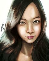 Japanese Girl Portrait by Kannart