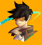 Overwatch: Tracer by Wonder-Waffle