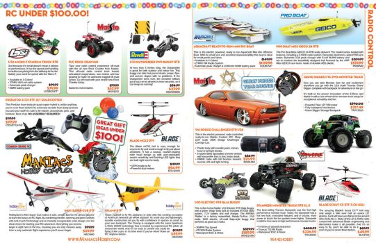 Maniacs Hobby Holiday Catalog 2013 - Pages 1-2 by jPhive
