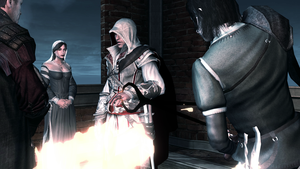 Ezio Auditore's ring finger is branded by OrochimaruXDD