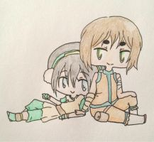 Toph and Kye by Erenii