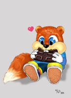 Conker Likes Chocolate by girfreak8