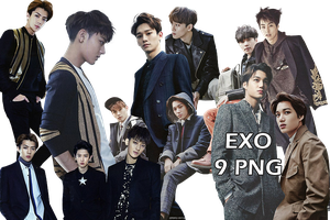 EXO PNG Pack {The Celebrity 2015} by kamjong-kai