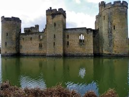 Bodiam Castle - Side View by Moose-Art