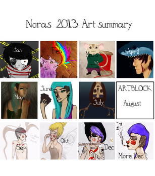 2013 art summary by Brottsligt