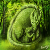 Mother dragon by Equifox