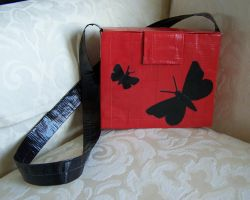 butterfly duct tape purse by WeirdBugLady