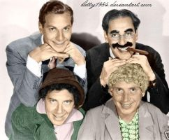 4 Marx bros (colour) by kitty1984